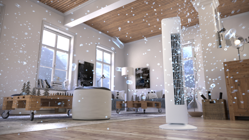 Luxurious tower fan CA-405 for a nice summer indoor climate