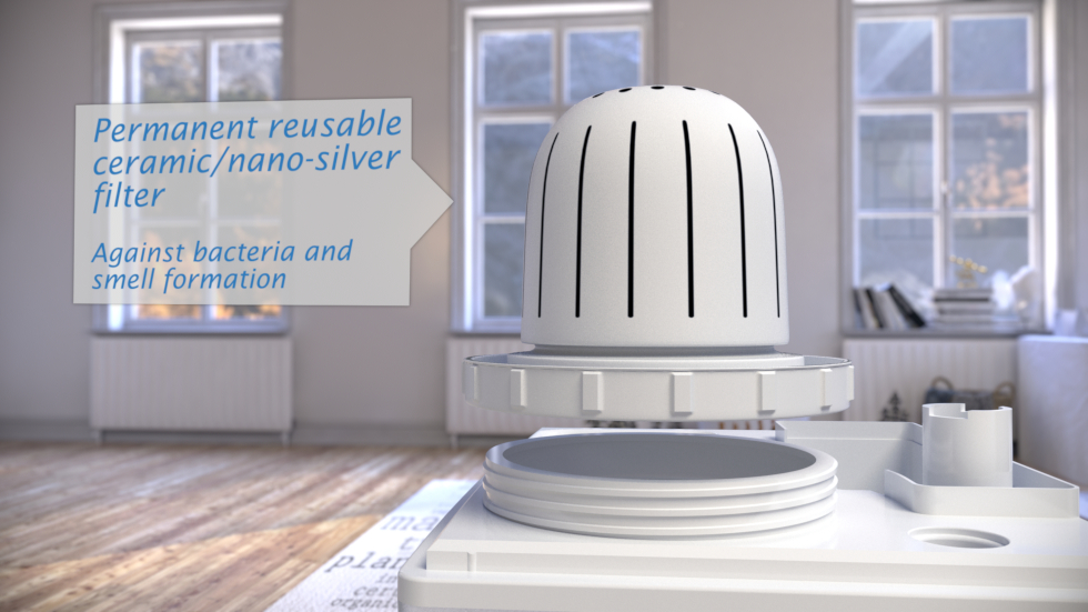 The Clean Air Optima humidifier with ionizer CA-604 is a silent, energy-efficient tool for keeping the indoor air humidity at the optimum level.